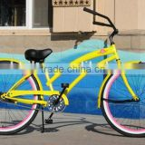 MULTIPLE COLOR 26 INCH GIRLS BEACH CRUISER BIKE /SINGLE SPEED BICYCLE WOMAN BEACH CRUISER