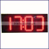 "Top selling 8"" 10"" 12"" 16"" 18"" 20"" 24"" red samll led digital clock display/outdoor led clock display"