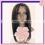 #1B/30 10 inches Yaki 100% Indian remy human hair lace wigs accept customer order