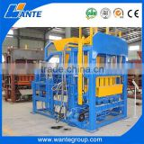 QT4-15 fully automatic concrete cement hollow paver bricks block making machine production line