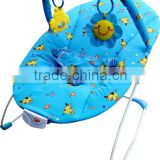 New Blue Circus Baby Bouncer, light weighted musical baby rocker cradles with lovely toys
