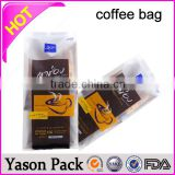 Yason customized coffee aluminium foil white sachets polybag with bottom filling decaffeinated coffee bag 12oz coffee bag custom