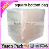 Yason clear square bottom bags drawstring square bottom bag tand up bopp square bottom bags with mould and window
