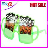 Carnival festival joke Plastic crazy party sunglasses/ funny crazy party glasses                                                                         Quality Choice