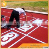 13mm thickness Eco-friendly Polyurethane synthetic running track on sales