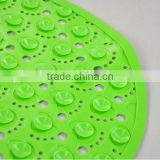 cute foots pattern and safty with suction cups pvc bath mat