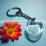 Wholesale Promotional Custom Eco-Friendly Alloy Crystal Keychain, Heart Shaped Key Holder