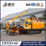 68t Pulling Force Horizontal Directional HDD Drilling Rig, Large model cable laying equipment