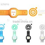 2015 new trend gel strip light auto smart watch thermometer for baby use supported Smart phone Apps bluetooth remote monitoring