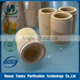 Sintered brass filter cartridge
