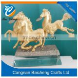 horse shaped metal craft with well meaning supplies