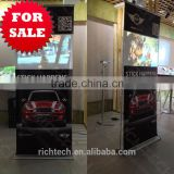 RichTech projection stand banner for indoor advertising with dynamic videos and attractive audio