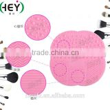 Hot Selling Multicolored Silicone Makeup Brush Cleaning Pad