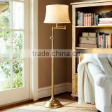 117-9 Traditional design and craftsmanship octagonal stem and substantial weighted SWING ARM FLOOR LAMP                                                                         Quality Choice