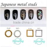 2016 Newest Design Korean Style Gold Silver Metal Nail Art Decor Tips Metallic Studs for nail decoration