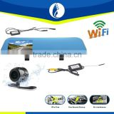 Easy install innovative wifi transceiver rearview mirror dvr Car reversing camera kit Monitors Safety Security System