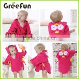 2016 Amazon Hot sale Hooded bathrobe cute baby bathrobe baby blanket with hood Toddler Jumpsuit