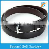 "Beyond Men's 1-1/2"" Wide Coffee Color Distressed Full Grain Genuine Leather Belt with Brushed Harness Enclosure"