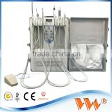 multi-function cheap mobile portable dental unit with air compressor
