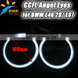 Popular multicolor full circle 105mm 12V CCFL angel eyes lighting 8000k high brightness E46 2D headlights for BMW