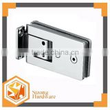 Rectangle 90 degree double side Mirror/Satin Stainless steel Long glass door clamp 6mm-12mm glass clips