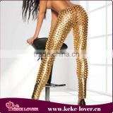 New sexy stylish gold hollow lether leggings for women hot girls pics lether girls leggings sex musilm ladies leggings wholesale