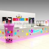 customized mall food frozen yogurt kiosk | bubble tea kiosk | 3D ice cream kiosk design for sale