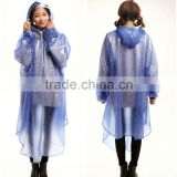 Pvc Hooded Rain Cape Poncho For Adults Long Poncho