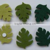 Felt leaves fridge magnet sticker for home decoration home button sticker ornaments