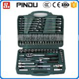 78pcs cr-v auto repair tool box 1 inch drive socket set