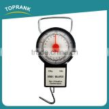 Toprank Popular Digital Luggage Scale 22kg Luggage Weight Scale Mechanical Hanging Fish Scale With 1M Tape Measure