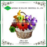 Wholesale gift wicker hanging wall flower basket