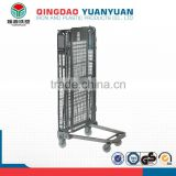 Multifunctional warehouse equipment, metal rolling metal storage cage, steel storage cage for factory