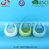 BSCI Audit factory New design garden decorations Ceramic egg basket, hanging ceramic plant pot