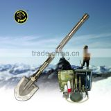 Military Folding Shovel Survival kit outdoor multifunction camping equipment as shovel knife cutter and hoe