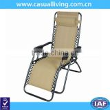 Wholesale Folding Beach Zero Gravity Metal Outdoor Sling Chair With Pillow