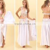 Yifusha belly dancing satin panel circle skirt