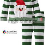 New style baby clothes boy winter stripe fabric embroidery cotton pajamas