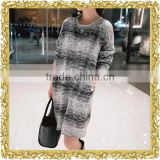 OEM stripe stretchy jersey knit ladies jumper suit maxi dress tie dye casual dress for women