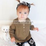 B22289A Girls' cotton long sleeved T-shirt baby Europe style solid color blouse