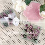 2pcs set blossom patterns glass coaster wedding give away favor gifts