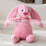 Gift doll doll toy children's rabbit plush to appease animals stripes birthday candle pig bear dog cashmere