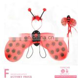 Wholesale red children interest fairy wing seven spot ladybird wing set wholesale for party