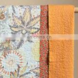 Indian kantha bedcover with 2 cushions