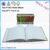 Fancy colorful wholesale family photo album,wedding photo album with photo frame box