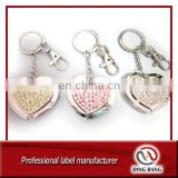 Promotional High Quality Customized Table Top Use Key Chain Type Custom Crystal Decorarion Souvenir Bag Hanger