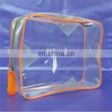 clear vinyl PVC zipper bag for cosmetic