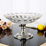 FALAJA new design glass fruit tray fruit plate with stem
