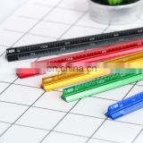 15cm multicolor Aluminium triangular scale ruler