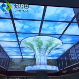 interior decoration material for hotel hall living room led light box uv print 3d pvc stretch ceiling film